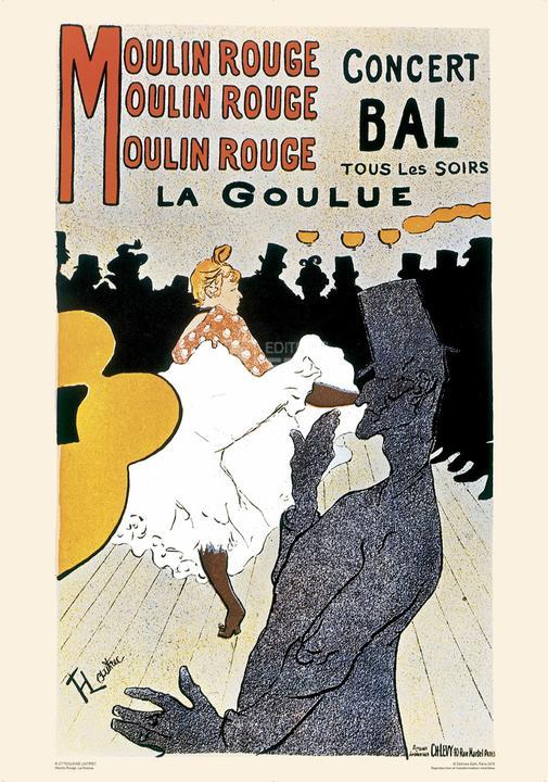 Moulin rouge la goulue henri de toulouse lautrec poster for Divan japonais poster value