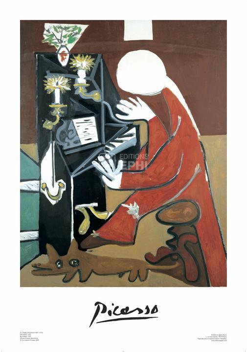 The piano, Pablo Ruiz Picasso (Poster) : Editions Ephi